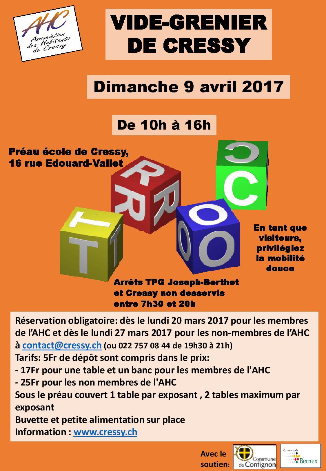 Vide grenier 2017 ahc for Vide grenier loiret 2017